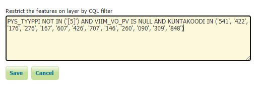 OGC-rajapintojen putkitus - cql filter | Paikkatietomies