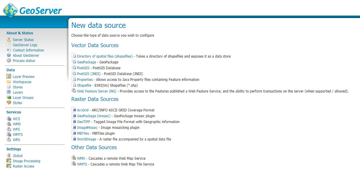 OGC-rajapintojen putkitus - datastore | Paikkatietomies